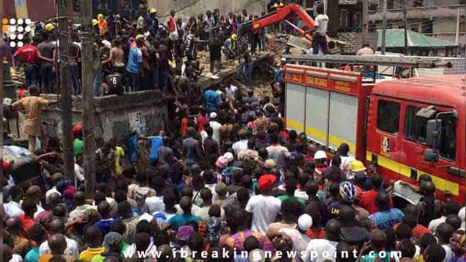 Adesina Tiamiyu, Nigeria School Building Collapse Causes About 8 Deaths, Nigeria School Building Collapse, Lagos Building Collapse, Itafaji market on Lagos, Lagos State Emergency Management Agency, Nigeria, Nigeria School Building Collapse,